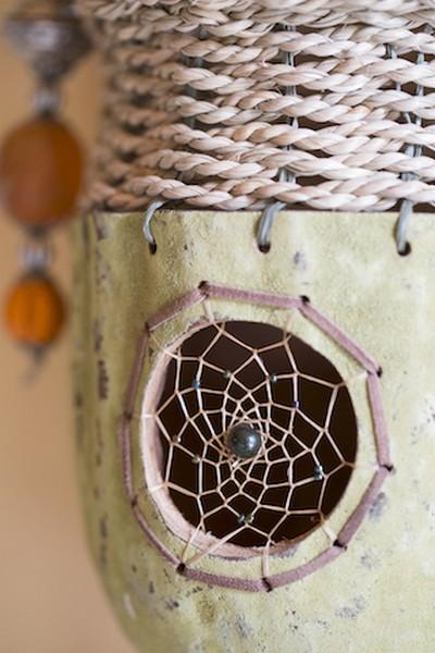 baobab, zeegrastouw, kunstpees, kralen, pluimpjes